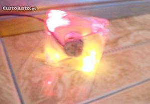ventoinha 80 mm computador / pc - vermelha laranja