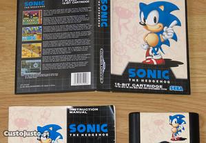 Mega Drive: Sonic 1 com manual