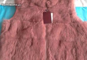 Colete pêlo rosa velho - Novo