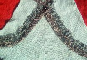 Capa em lã - tricô artesanal