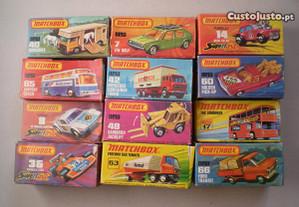 Miniaturas Matchbox antigas carros caixa original