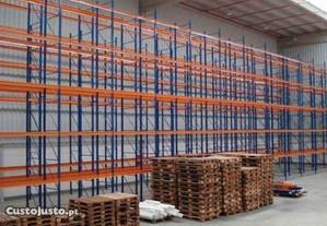 Estante de encaixe carga media e pesada p/armazem