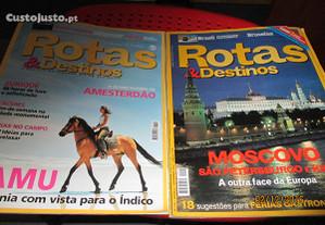 2 revistas Rotas & destinos
