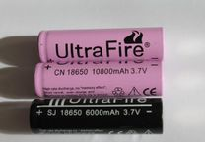 Bateria de ions de Litio 18650 Cor de rosa de