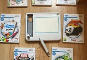 Wii draw com 8 jogos