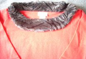 Camisola malha fina cor vermelho tamanho M