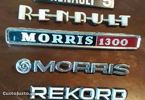 Simbolos antigos Renault, Morris, Rekord, originai