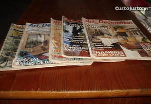 Conjunto de revistas de decoração de casas