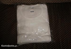 252 camisolas interiores brancas para homem e senh