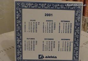 Calendário 2001, azuleijos Aleluia, pintado à mão