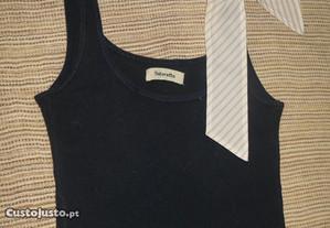 Camisola Tintoretto, 100%Algodão, alças c/ fita