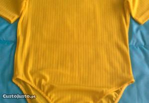 Body lycra amarelo