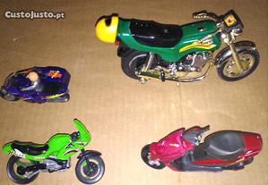 Motos miniaturas de colecção