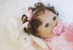 Maria - Bebe Reborn Menina toda em Silicone macío