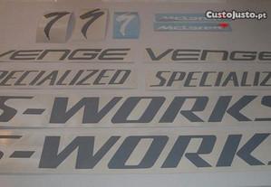 Autocolantes Specialized s-works Venge Bicicleta