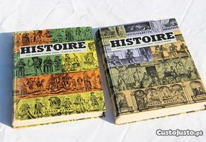 Livros de História em francês - 60's