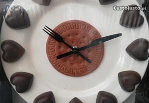 Relógio bombons para seu amor