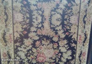 tapete carpete passadeira floreada