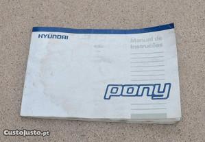 Manual instruções Hyundai Pony