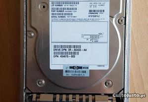HP hdd 72.8GB 10k wide ultra 320 scsi