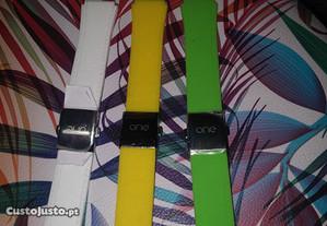 3 braceletes silicone relógio ONE TRENDY