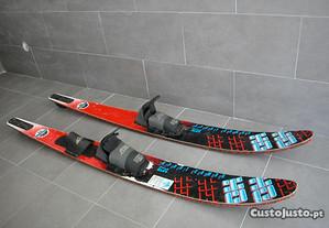 Par de Skis Aquáticos TECH Sport combo 7.5 Fibergl