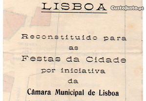 Festas de Lisboa - desdobrável (1935)