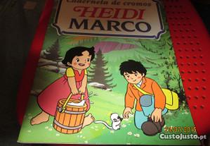 Caderneta de Heidi e Marco com 48 cromos