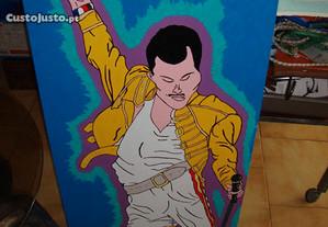 Queen-quadro pintado em tela