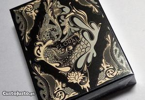Baralho de Cartas Black Floral - Raro