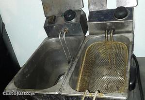 Fritadeira dupla com 1 cesto e outra Não funciona