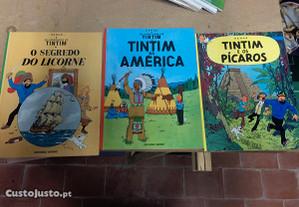 Conjunto de 8 livros, 3 do Tim Tim e 5 do Asterix