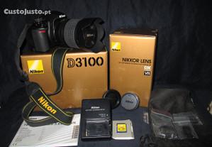 Máquina Fotográfica SLR Nikon D3100 18-105 mm