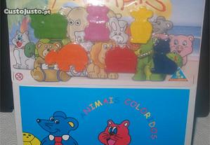 Majora - Lapis de Cera + Livro Animais coloridos