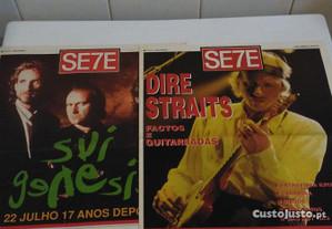 Suplementos do jornal SE7E Genesis e Dire Straits
