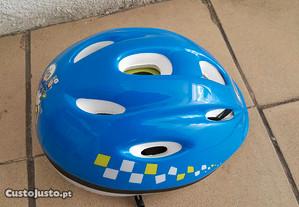 Capacete Azul Bicicleta Criança