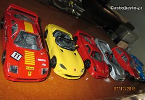 6 carros miniaturas da Burago - 1/43