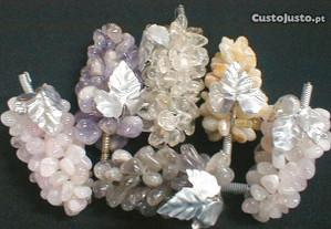 Cacho de uva quartzo diverso 9x4cm