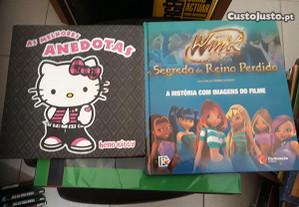 Obras de Hello Kitty e Winx