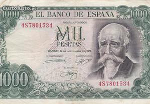 Nota de 1000 pesetas