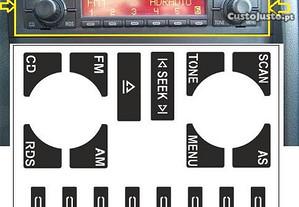 Kit Vinil Reparação Botões Rádio Concert Audi A4