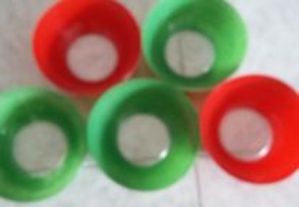 Tigelas em vidro colorido