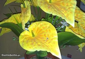 vaso de flores artificiais jarros amarelos novo