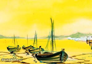 Paisagem Fluvial Barcos