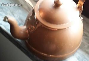 Bule e panela em cobre