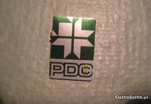 Pin/alfinete do Partido da Democracia Cristã (PDC)