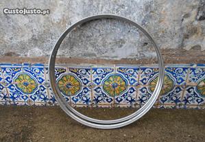 Bicicleta Pasteleira Aros em inox antigos