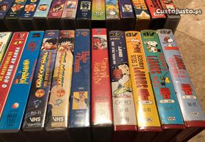 Cassetes VHS de clássicos infantis