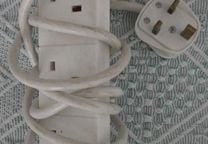 4 way surge protected extension lead - eurosonic