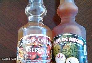 1 Licor de castanha e 1 Licor de anona (Madeira)